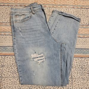 NWOT Distressed High Rise Jeans Size 15